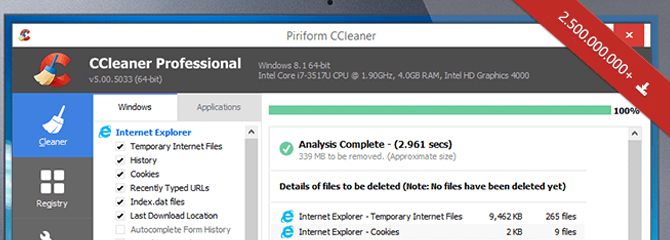 Make your computer more stable with CCleaner