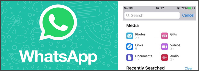 New search features in Whatsapp